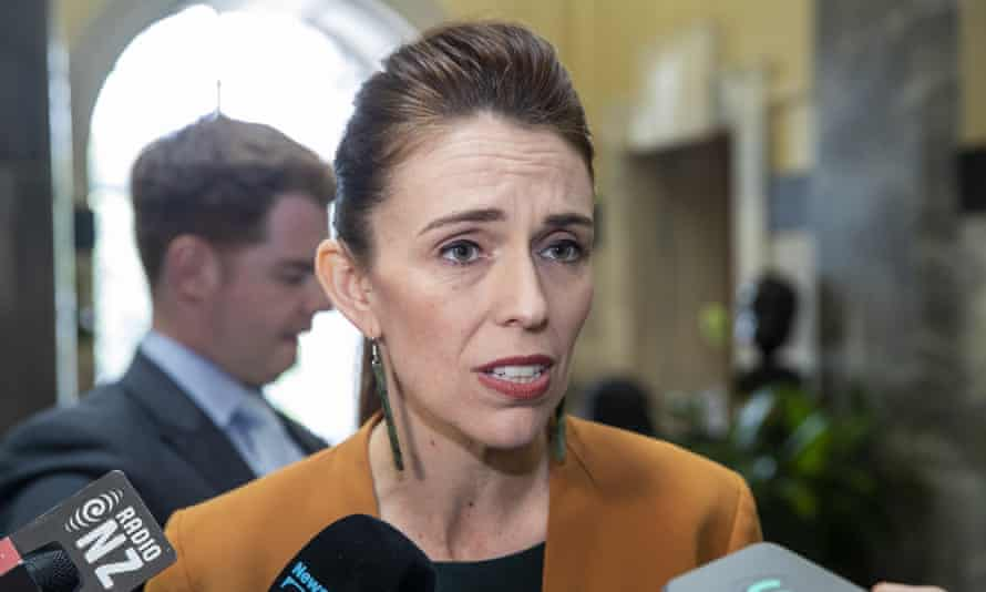 New Zealand's prime minister, Jacinda Ardern, speaks during a media stand-up on her way to Question Time at Parliament, in Wellington, New Zealand Tuesday, Dec. 1, 2020.