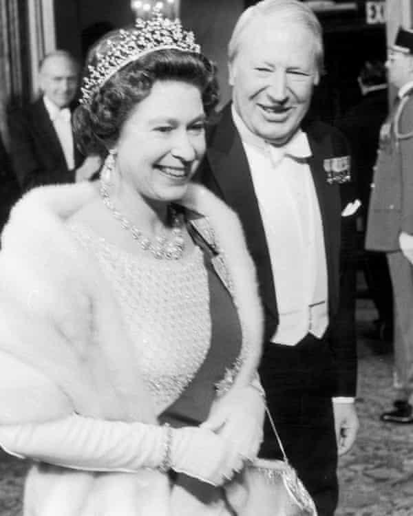 Queen Elizabeth II and Edward Heath