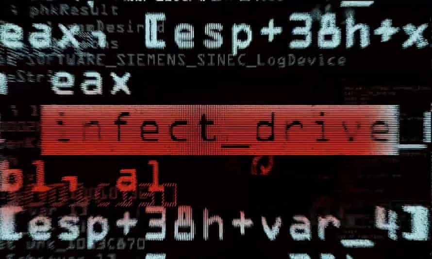 Simulated malware image