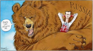 Chris Riddell on Russia's embrace of the Syrian despot.