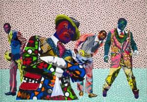 Les Sapeurs by textile artist Bisa Butler.
