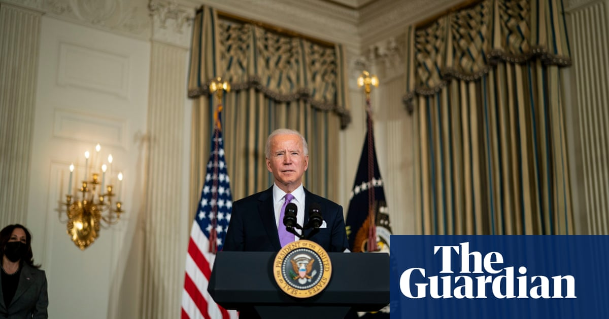 In his first 100 dias, how has Biden handled the four crises he outlined?