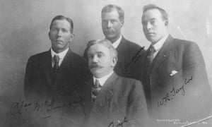 McGonagall, Lloyd, Anderson, and Taylor in a June 1910 Fairbanks portrait taken to help the miners stake their claim to Denali