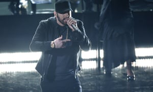Eminem's 'unnecessary' performance of his 17-year-old song Lose Yourself.