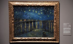 Van Gogh's Starry Night Over the Rhône on display at the Tate.