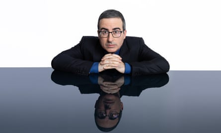 John Oliver at HBO headquarters for his show Last Week Tonight