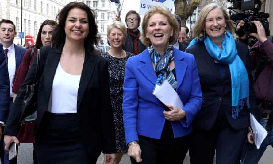 From left: Heidi Allen, Anna Soubry and Sarah Wollaston