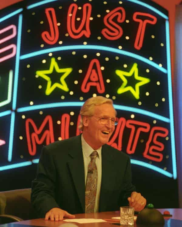 Presenting the short-lived ITV version of Just a Minute in 1994.