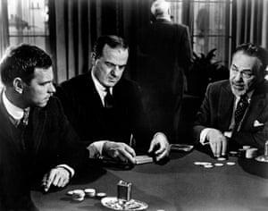 Rip Torn, Karl Malden and Edward G Robinson in The Cincinnati Kid, 1965