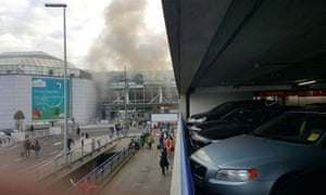 Smoke rising from Brussel airport