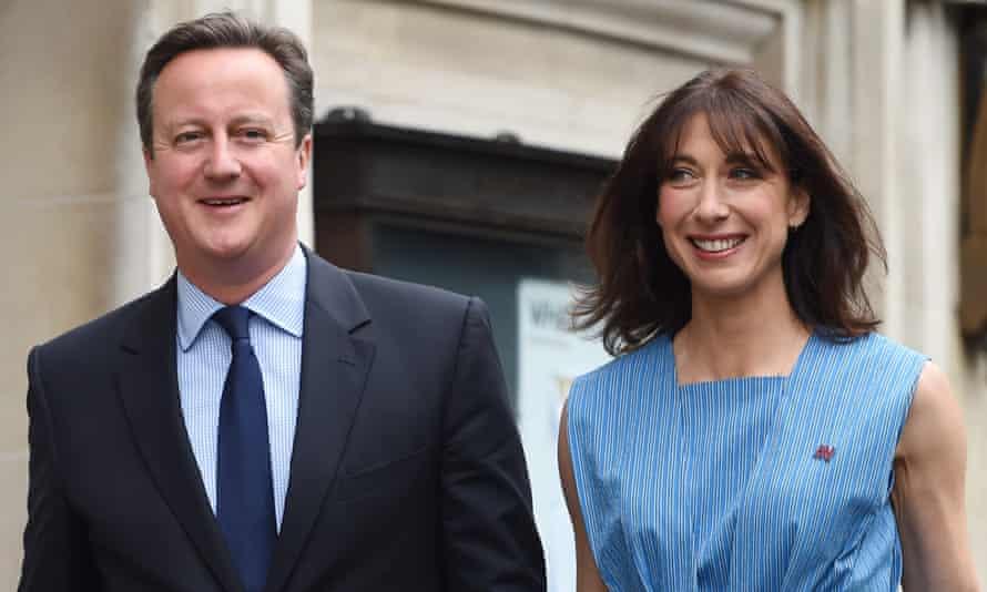 David and Samantha Cameron outside Central Methodist Hall.