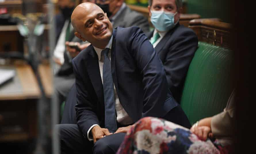 Sajid Javid in the House of Commons on his first day as health secretary.