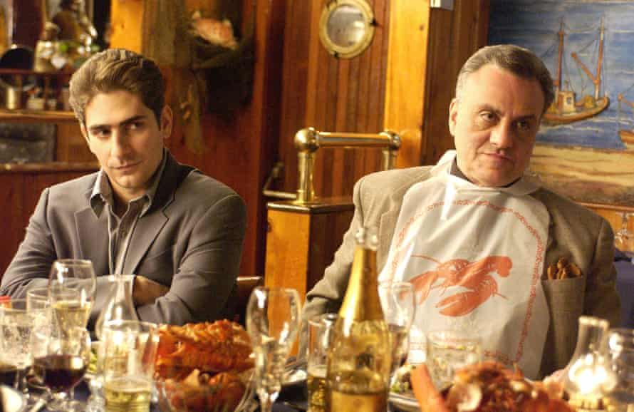 'Is that our restaurant?' … Vincent Curatola, right, with Michael Imperioli.