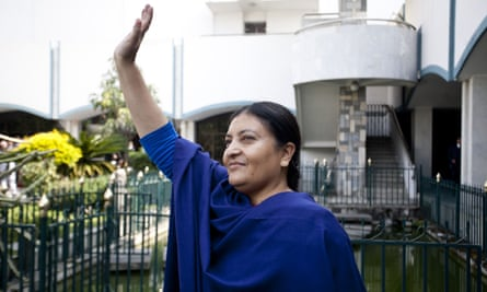 Bidhya Devi Bhandari after voting in the presidential election