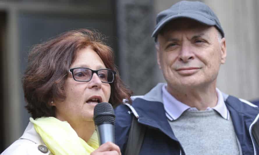 Giulio Regeni's parents, Paola Defendi and Claudio Regeni, in Milan, Italy, in 2016.