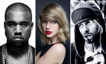 Kanye West Taylor Swift and Kurt Cobain