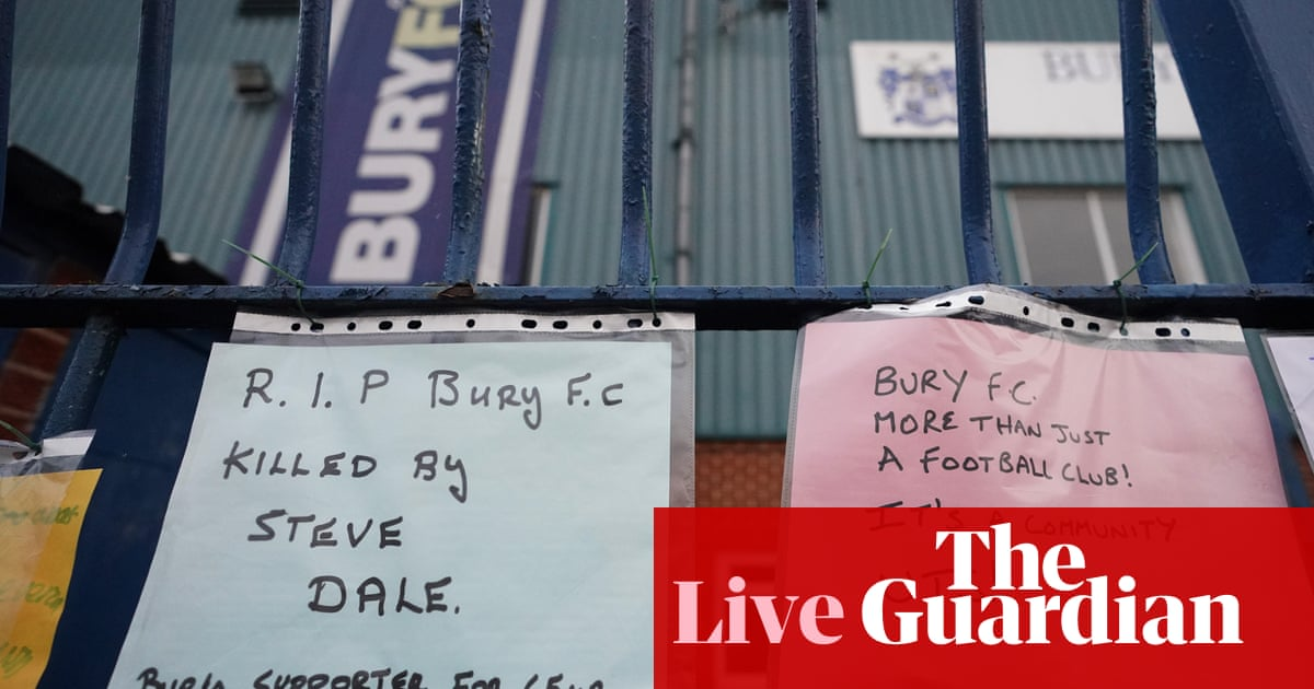 Bury expelled from EFL after 125 years: updates and reaction – live