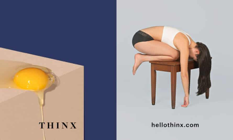 An ad for Thinx's period-proof pants