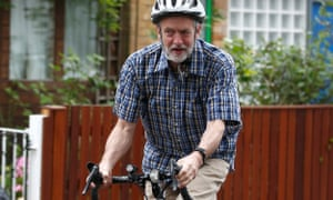 Jeremy Corbyn on a bike