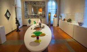 Hand-blown glass in the Museo del Vetro, Murano.