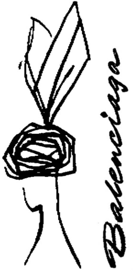 Cecil Beaton illustration Balenciaga, Observer 22 June 1958.