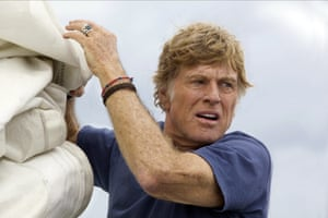 Tied to the mast … Robert Redford in All Is Lost.