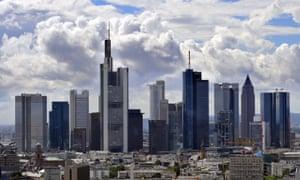Frankfurt's banking district.