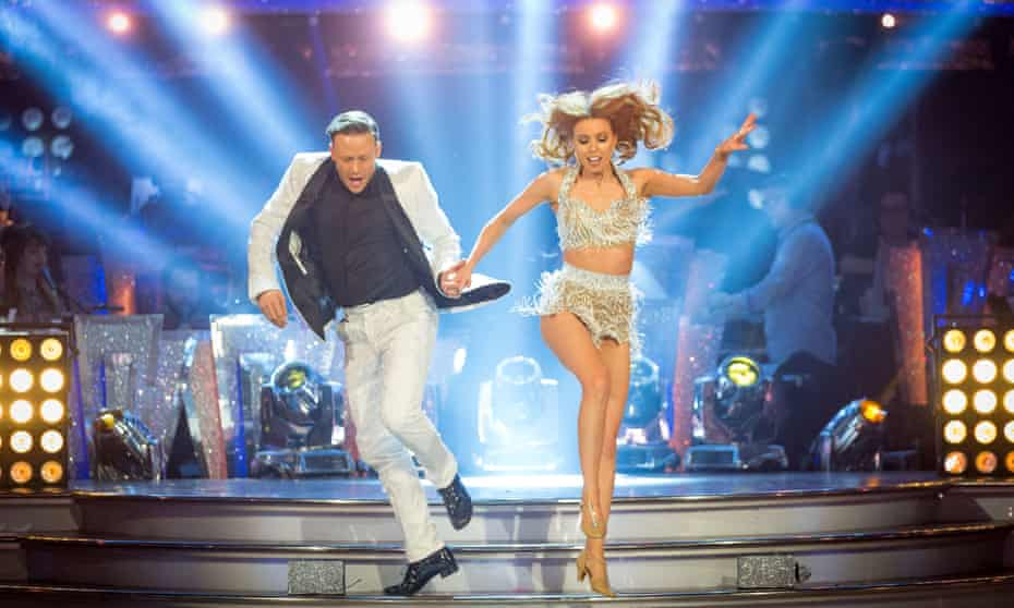 Dancing with Stacey Dooley on Strictly in 2018.