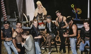 Frankie Goes to Hollywood Relax music video shoot at Wilton's Music Hall, 1984.