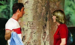 Prince Charles talks to Camilla Parker Bowles at a polo match in 1975.