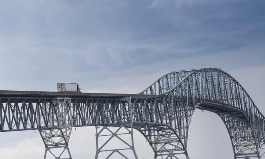 Opened in 1940, the Governor Harry W Nice Memorial Bridge spans the Potomac river from southern Maryland to Virginia. A $765m plan to replace the narrow and aging bridge is expected to open in 2023.