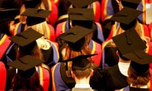 Graduates at a graduation ceremony