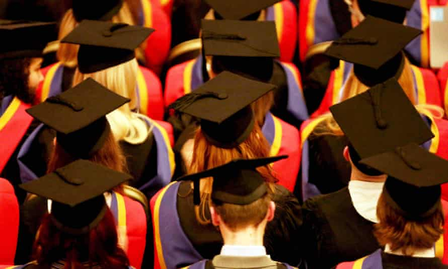 A university graduation ceremony