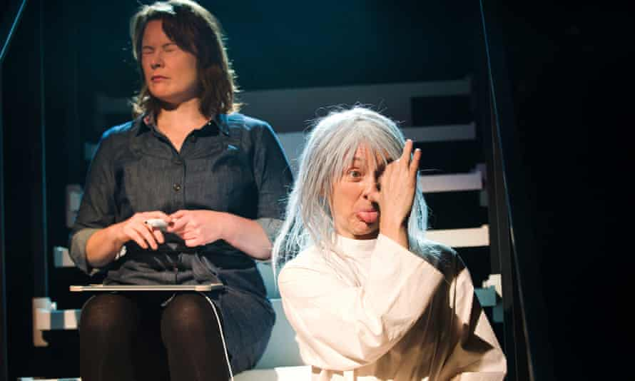 Monica Dolan as Megan and Brid Brennan as her mother in Plaques and Tangles by Nicola Wilson.