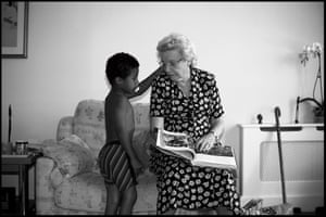 young boy and great grandmother