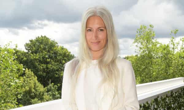 The silver-haired deputy editor of British Vogue, Sarah Harris, seen at Wimbledon this week.