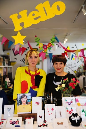 Rosie Wolfenden and Harriet Vine of Tatty Devine portrait from the book Voices: East London by Maryam Eisler.