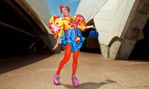 Grayson Perry in a dress in Australia