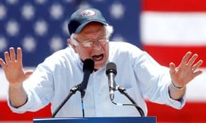 Bernie Sanders speaks in California.