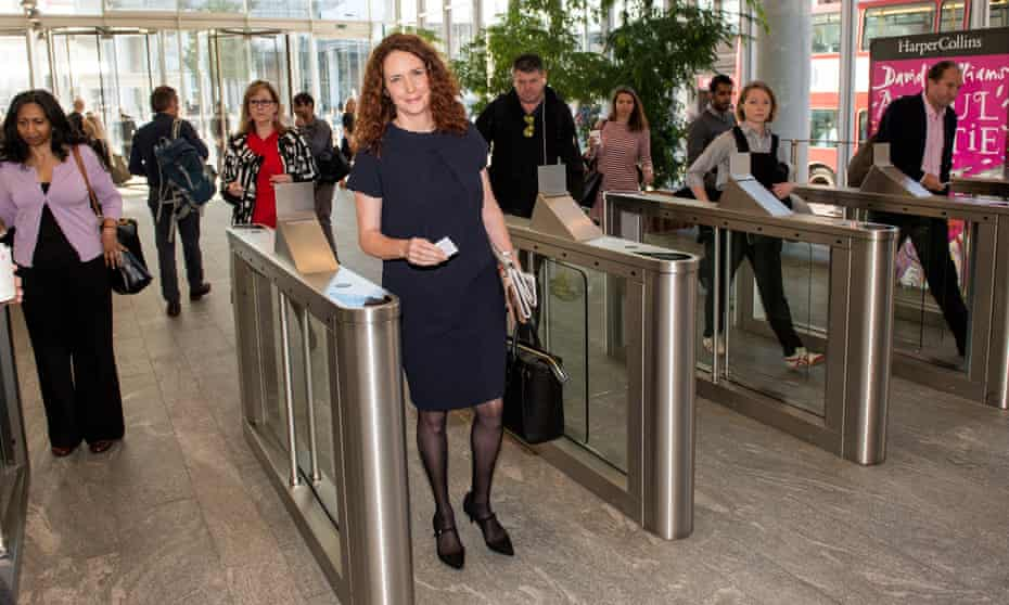 Rebekah Brooks arriving at the News UK offices in London for her first day as chief executive in 2015.