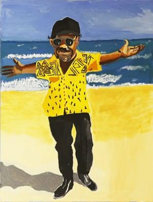 Vincent Namatjira's self-portrait