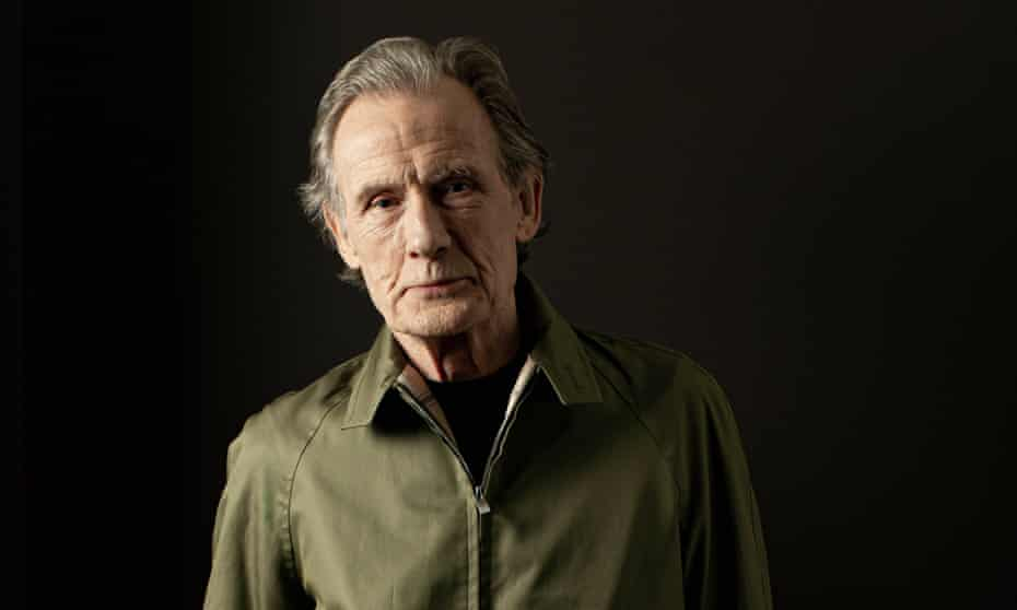 'A modernist? I do subscribe to that ethos': Bill Nighy in a Golfer jacket 'with a zip that goes both ways' by Grenfell and a turtle neck by Sunspel.