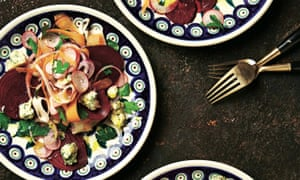 Photograph of Yotam Ottolenghi's root vegetable slaw with stilton