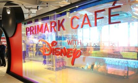 The Disney cafe in the Birmingham Primark.
