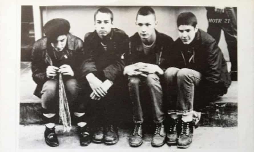 John Berry (second from right) … 'An angsty weisenheimer quick with a joke'