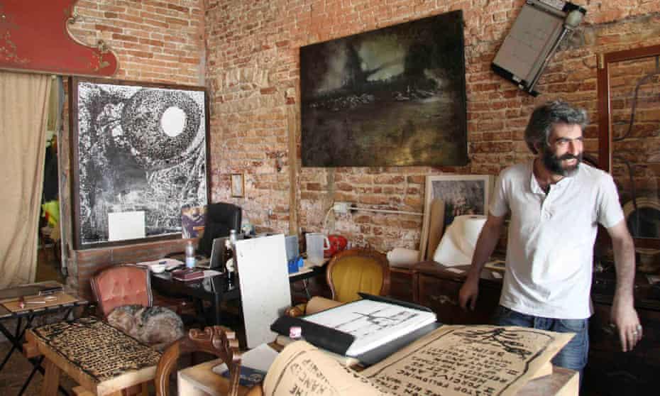 Oi Va Voi owner Roman Tcherpak in his gallery in the Castello quarter of Venice, Italy.