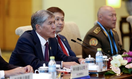 Kyrgyz president Almazbek Atambayev during a visit to China last year.