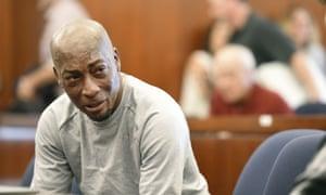 Dewayne 'Lee' Johnson reacts to the $289m verdict in his case against Monsanto.