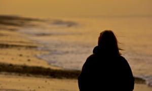 Teenage girl on the beach