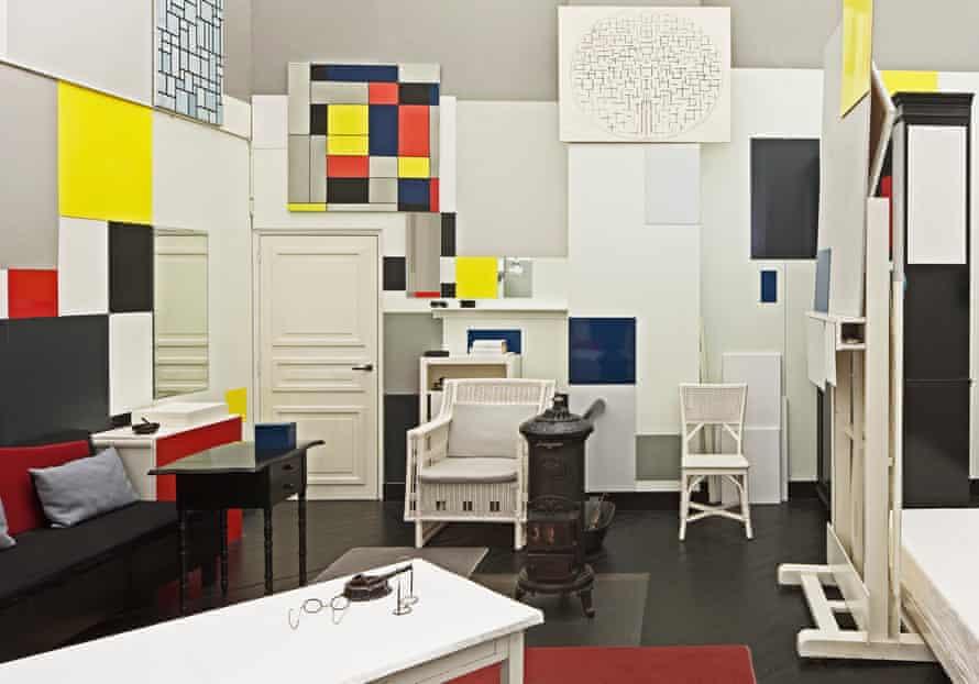 Reconstruction of Mondrian's Paris studio.